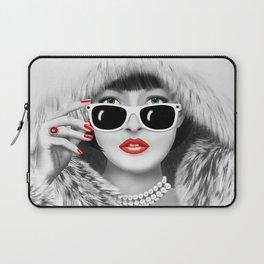 Winter Lady Laptop Sleeve