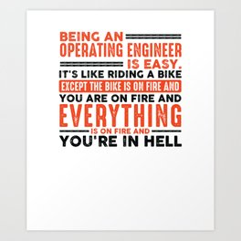Being a Hairdresser Is Easy Shirt Everything On Fire Art Print