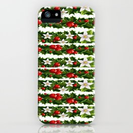 Christmas holly and garlands iPhone Case