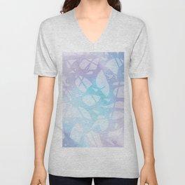 Terrazzo Watercolor Pattern Design C4 Unisex V-Neck