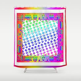 Flowers + Bicycles Shower Curtain