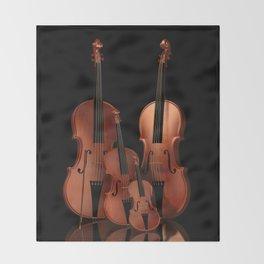 String Instruments Throw Blanket