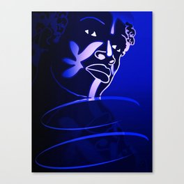 Ebony Blue Canvas Print