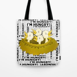 Hungry Birds in a Nest Tote Bag
