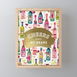 Cheers My Dears – Gold Framed Mini Art Print