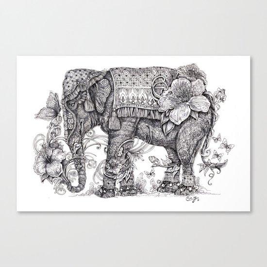 """Anesh the Creative Elephant"" Canvas Print"