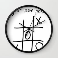 xoxo Wall Clocks featuring XOXO by Svetlana Sewell