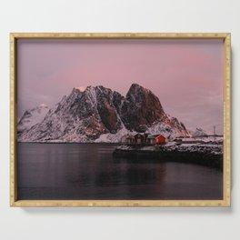 Sunrise in Lofoten Serving Tray