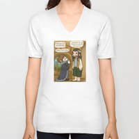 thorin V-neck T-shirts featuring Thorin the Exchange Hobbit by BlacksSideshow