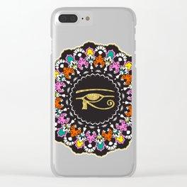 Eye of Horus Mandala Clear iPhone Case