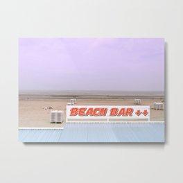 Beach Bar near the Ocean Metal Print