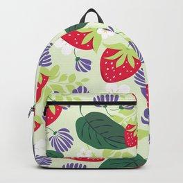 Strawberrie patten Backpack