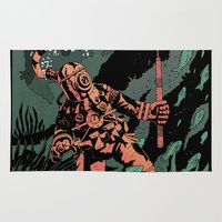 diver Area & Throw Rugs featuring Diver by Rafael T. Pimentel