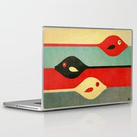 ariana grande Laptop & iPad Skins featuring Three Fish in My Mind by Fernando Vieira