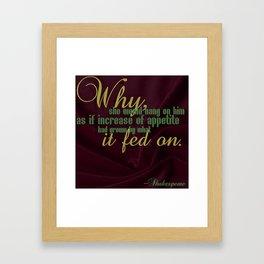 -William Shakespeare Framed Art Print