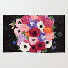 floral topiary Rug
