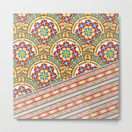 Design Confections Pattern on Pattern 1 Metal Print