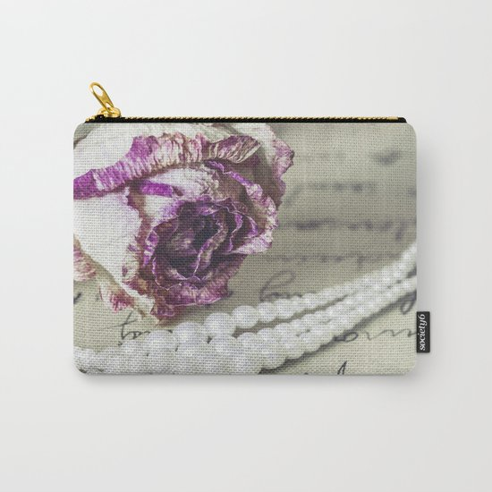 love letter with pearls and rose Carry-All Pouch