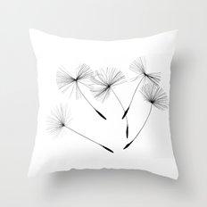 Dandelion seeds, Throw Pillow
