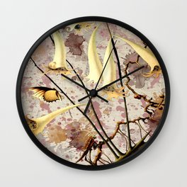 Franz Sedlacek Blooms And Insects III Wall Clock