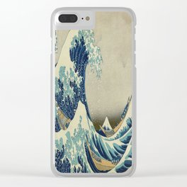 Vintage poster - The Great Wave Off Kanagawa Clear iPhone Case