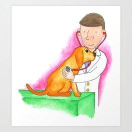 Dr. Chuck the Friendly Veterinarian Art Print