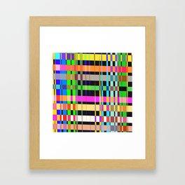 inclined coloured stripes Framed Art Print