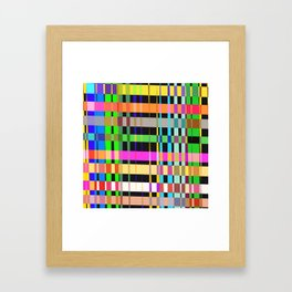 inclined coloured stripes Framed Art Print