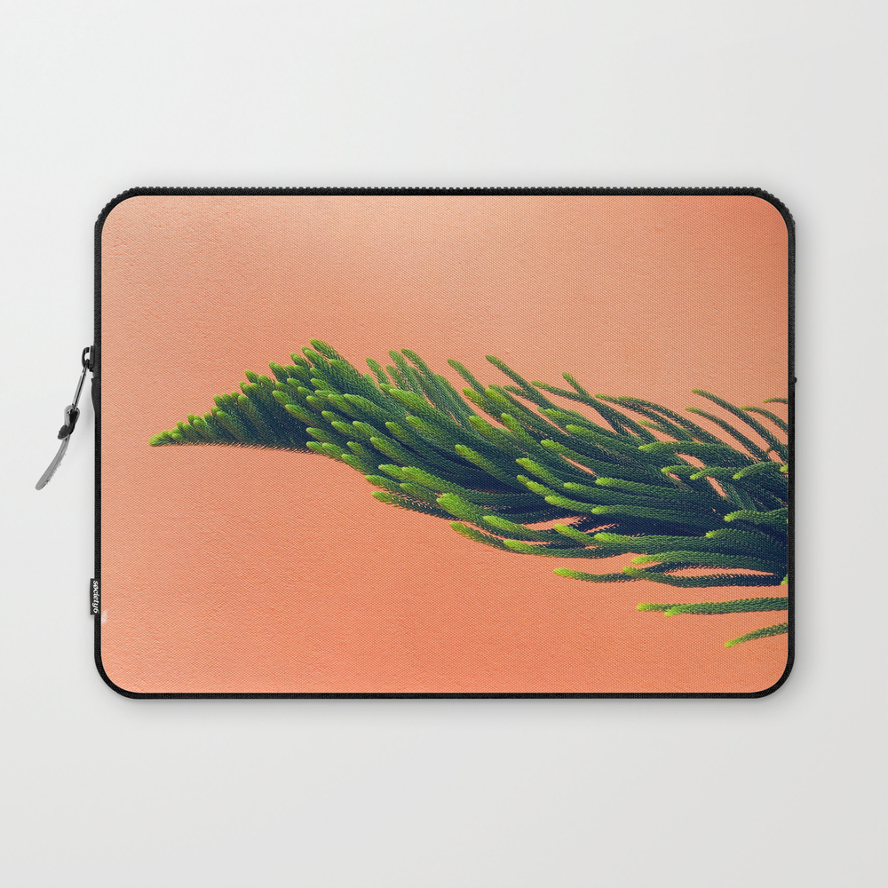 Complementary Colors Green Salmon Pink Against Bac… Laptop Sleeve LSV8742744