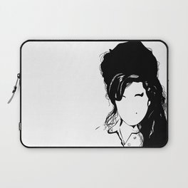 Amy back to just black Laptop Sleeve
