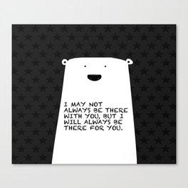 Polar bear stars Canvas Print