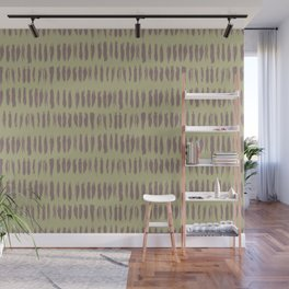 Grape Vine Purple on Earthy Green Parable to 2020 Color of the Year Back to Nature Bold Grunge Dash Wall Mural
