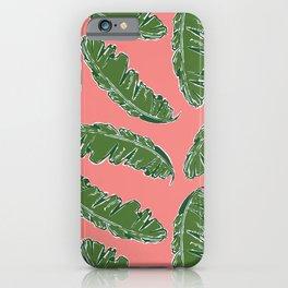 Nouveau Banana Leaf in Lox iPhone Case