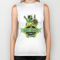 lotr Biker Tanks featuring LOTR - The Green Dragon Inn - Bywater by Immortalized