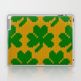 Shamrock pattern - orange, green Laptop & iPad Skin