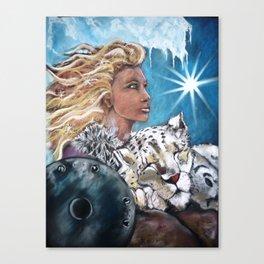 November Protection Goddess Canvas Print