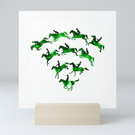 Connected to Showjumping (Green) Mini Art Print