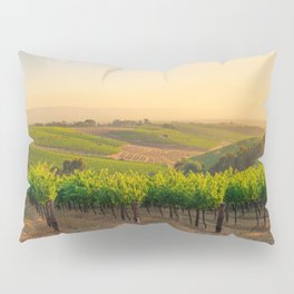 Golden Vineyard  panorama Pillow Sham