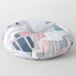 greece houses santorini Floor Pillow