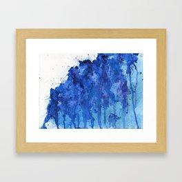 Splatter Blue Framed Art Print