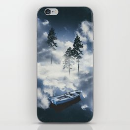 Forest sailing iPhone Skin