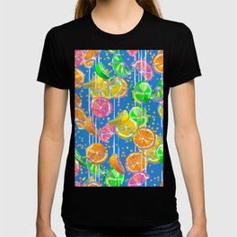 Pop Art Citrus Fizz | Blue T-shirt