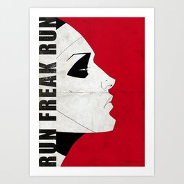 Run Freak Run - Red Art Print