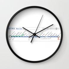 Twin Cities METRO Blue Line Map Wall Clock