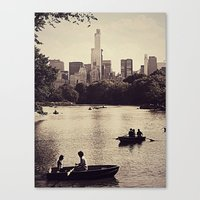 central park Canvas Prints featuring Central Park by C Liza B