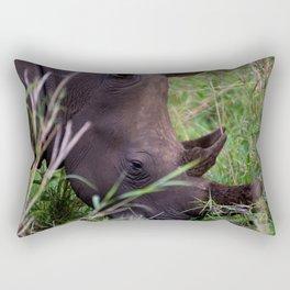 White Rhino in Hluhluwe-Imfolozi Park Rectangular Pillow