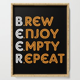 Home Brewer Brew Enjoy Empty Repeat Serving Tray
