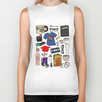 ghost world Biker Tanks featuring Ghost World by Shanti Draws