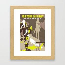 James Bond Golden Era Series :: For Your Eyes Only Framed Art Print