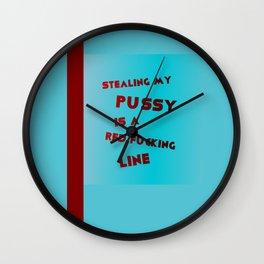 don't cross nanette cole Wall Clock